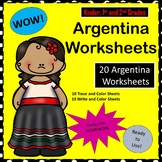 Argentina Worksheets