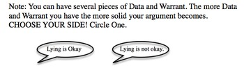 Argument: Is lying okay?  ACT ASPIRE Activity