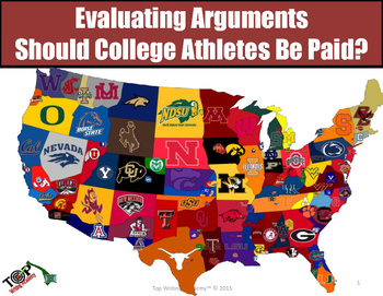 "Argument Analysis Activity ""Should College Athletes Be Paid?"""