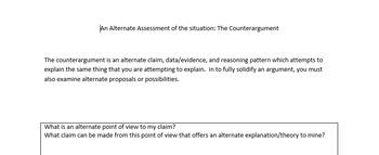 Argument - Counterargument Planner