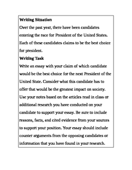 Argument Essay Based on Presidential Candidates