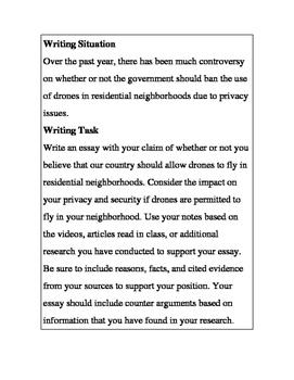 Argument Essay-Should Drones Be Banned in Your Neighborhood