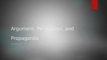 Argument, Persuasion, and Propaganda PPT