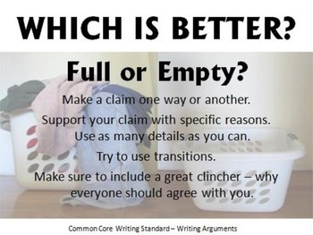 Visual Argument-Style Writing Prompts Incorporating Common
