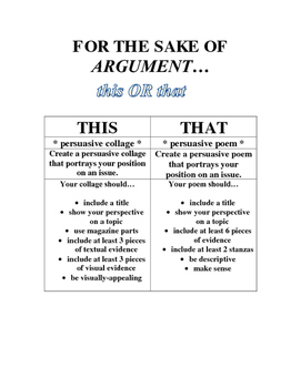 Argument This OR That Project