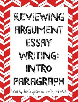Argument Writing: Intro Paragraph Review Presentation