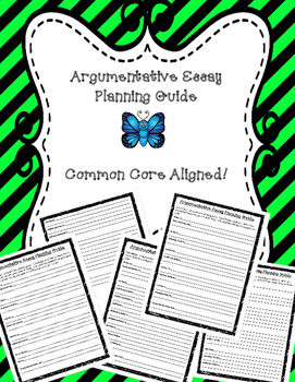 Argument Writing Organizers Common Core