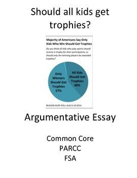 Argumentative Essay 4-day scaffolded plan (Should all Kids
