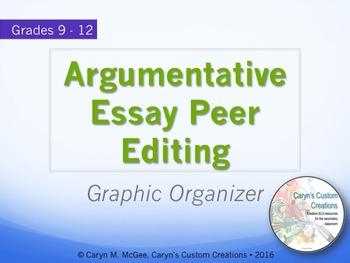 Argumentative Essay Peer Editing Graphic Organizer