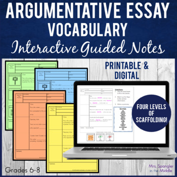 Argument Writing Pixanotes™ (Differentiated Picture Notes)