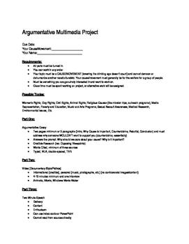 Argumentative Multimedia Project