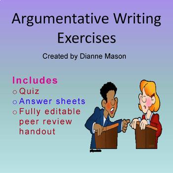 Argumentative Writing Exercises