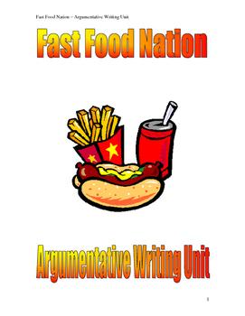 Argumentative Writing - Fast Food Essays