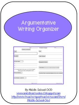 Argumentative Writing Organizer