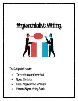 PARCC/CC Aligned Argumentative Writing Packet 1