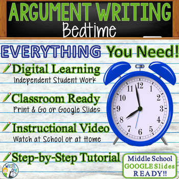 Argumentative Writing Prompt / Essay Tutorial - Bedtime -