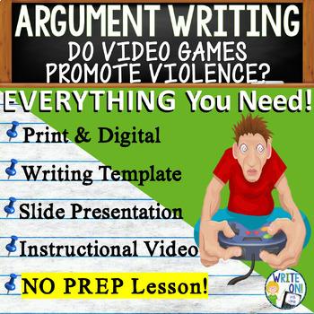 ARGUMENTATIVE / ARGUMENT WRITING PROMPT - Video Games - Mi