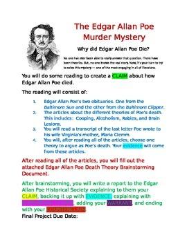 Argumentative Writing: The Edgar Allan Poe Murder Mystery
