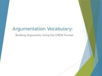 Argumentative Writing Vocabulary: Building an Argument Usi