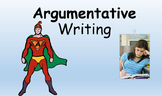 Argumentative Writing Powerpoint with insert for an intera