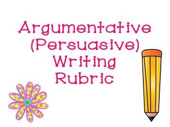 Argumentative/Persuasive Writing Rubric