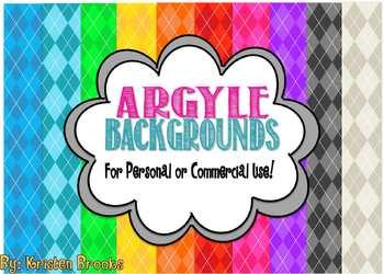 Argyle Background (Digital Paper) Pack