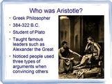 Aristotle Persuasive / Rhetorical Appeals - Logos Ethos Pathos