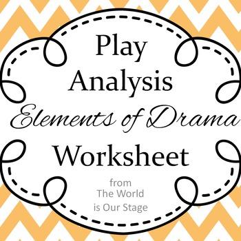 Elements of Drama Aristotle Based Play Analysis Writing As