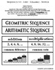 Arithmetic & Geometric Sequences - Sit Sort Scramble Switc