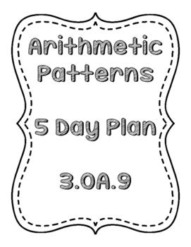 Arithmetic Patterns Week Plan