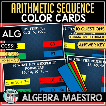 Arithmetic Sequence - Color Cards