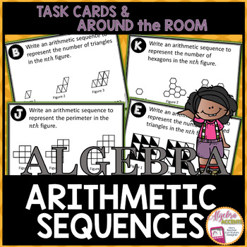 Writing Arithmetic Sequences from Patterns Task Cards
