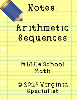 Arithmetic Sequences Guided Notes