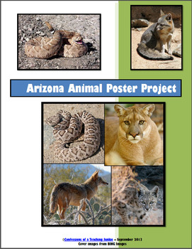 Arizona Animals Poster Project (Customizable for ANY state!)