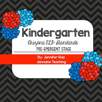 Arizona Kindergarten ELP Standards Pre-Emergent Stage