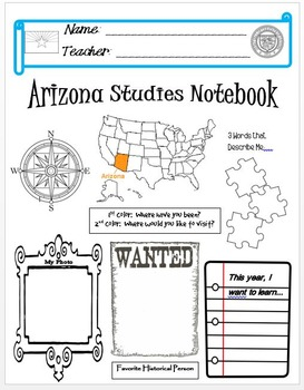 Arizona Notebook Cover