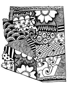 Arizone Doodle Graphic / Coloring Page Printable