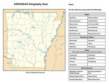 Arkansas Geography Quiz