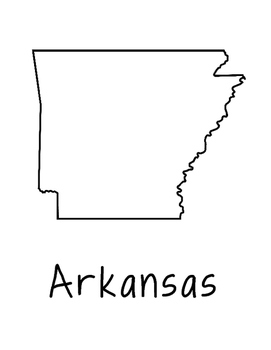 Arkansas Map Coloring Page Activity - Lots of Room for Not