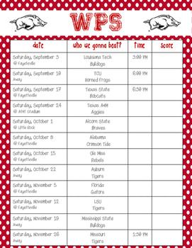 Arkansas Razorback Football Schedule 2016