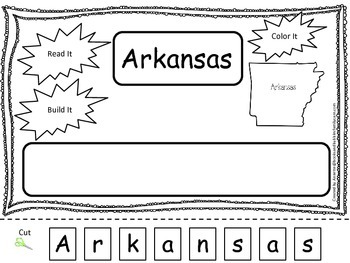 Arkansas Read it, Build it, Color it Learn the States pres