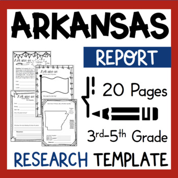 Arkansas State Research Report Project Template + bonus ti