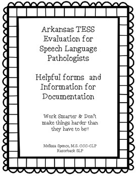 Arkansas SLP TESS Rubric #slpmusthave