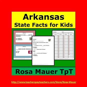 Arkansas Hello USA Task Cards