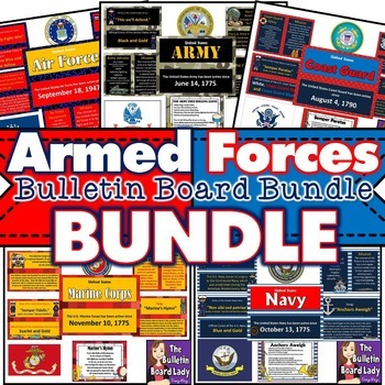 Armed Forces Bulletin Board Bundle of 5 Sets
