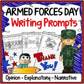 Armed Forces Day Writing Prompts {Narrative, Informative &