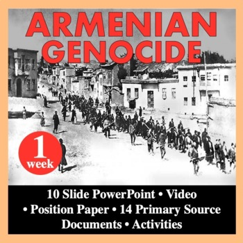 Armenian Genocide World War I WWI 1914-1918 Reading Writin