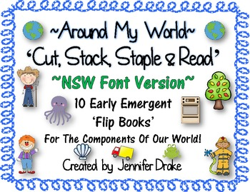 Around My World 'Cut, Stack, Staple, Read' Emergent Flip B