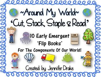 Around My World 'Cut Stack Staple & Read' Flip Books for E