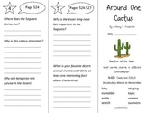 Around One Cactus Trifold - Reading Street 3rd Grade Unit